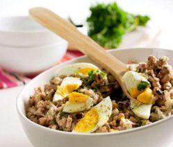 Salada de Feijão Frade com Atum - Receitas da Tia Céu