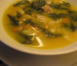 Sopa de Nabiças com Feijão Branco - Receitas da Tia Céu