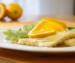 filetes de maruca com citrinos - Receitas da Tia Céu