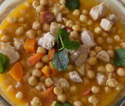 Cozido de Grão com Vagens - Receitas da Tia Céu