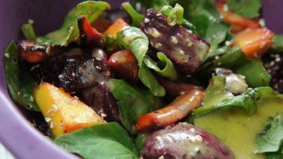 salada de beterraba e cenoura assada - Receitas da Tia Céu