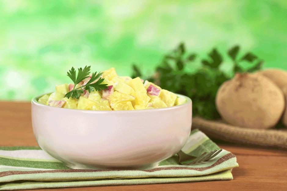 Salada de Batata com Maionese – Receitas da Tia Céu