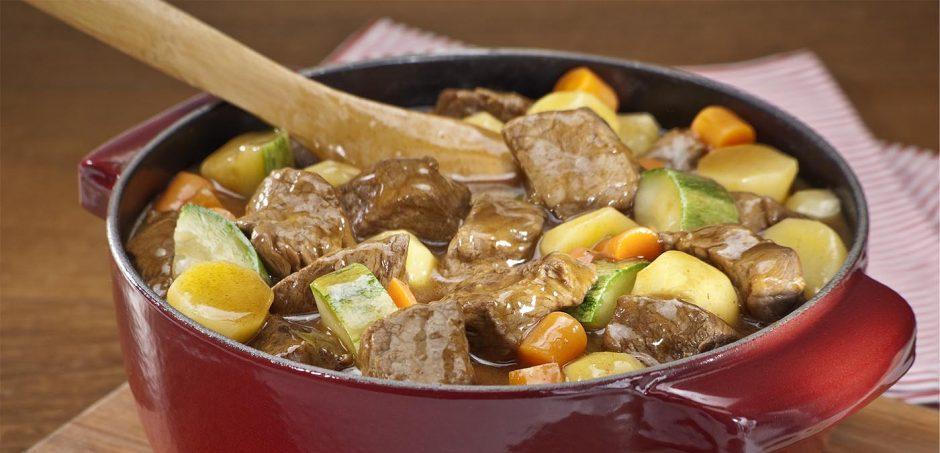 carne com legumes – Receitas da Tia Céu